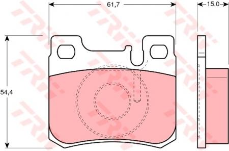 Колодки дисковые Задние, TRW, GDB1130