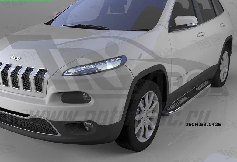 Пороги алюминиевые (Zirkon) Jeep Cherokee (2014-), JECH591425