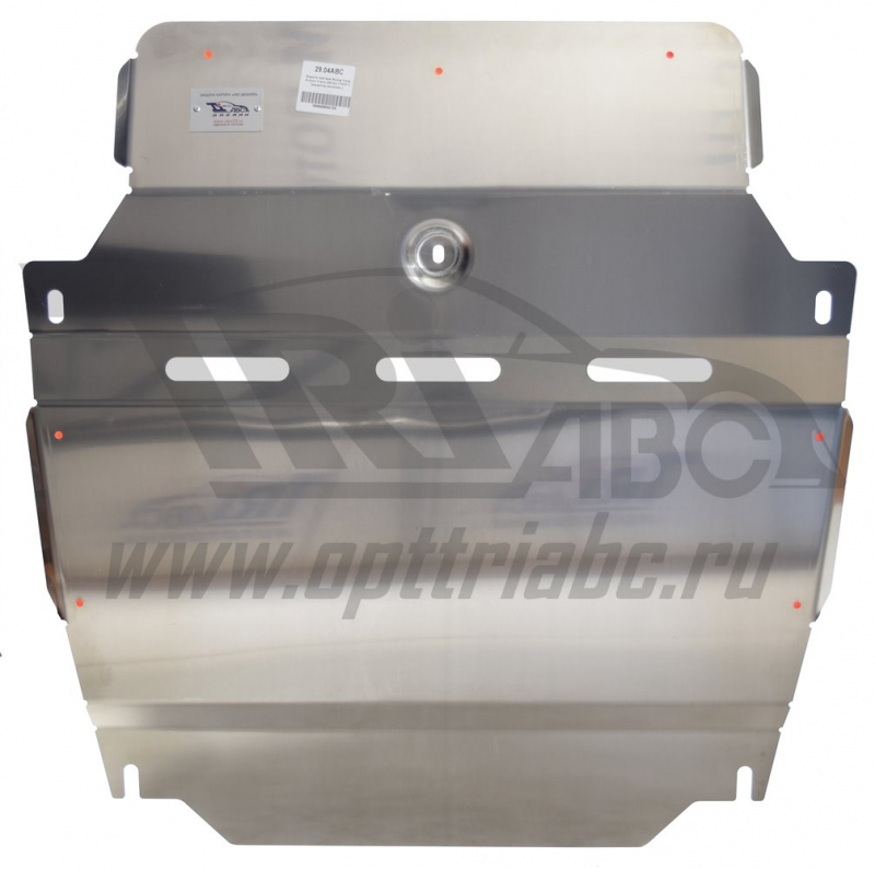 Защита картера двигателя и кпп Ssang Yong Actyon (Ссанг Йонг Актион) V-все (2010 -13 -)+радиатор (Ал