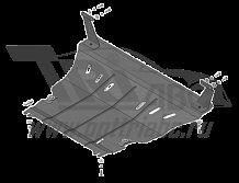Защита картера двигателя, КПП Ford EcoSport V-1,6 ( 2014-)(сталь 2 мм), MOTODOR00753