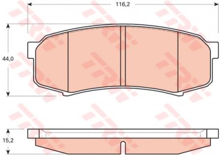 Колодки дисковые Задние, TRW, GDB3464