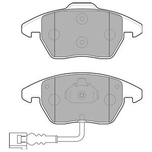 Колодки дисковые, DELPHI, LP1837