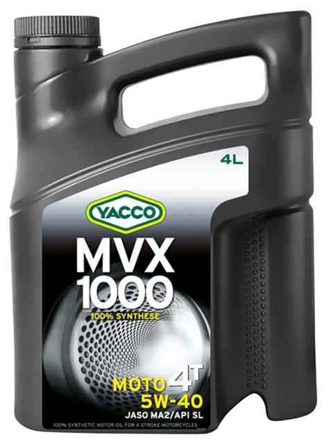 Масло для мотоциклов с 4-тактным двигателем YACCO MVX 1000 4T синт. 5W40, SL (4 л)