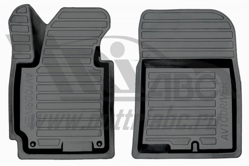 Коврики салона резиновые с бортиком для Hyundai i30 (2012-) (2 передних), ADRPRO0202