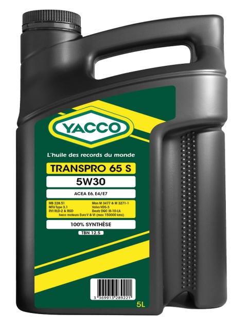 Масло грузовое YACCO TRANSPRO 65 S синт. 5W30 , (5 л)
