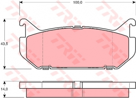 Колодки дисковые Задние, TRW, GDB1140