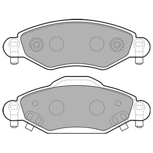 Колодки дисковые, DELPHI, LP1840