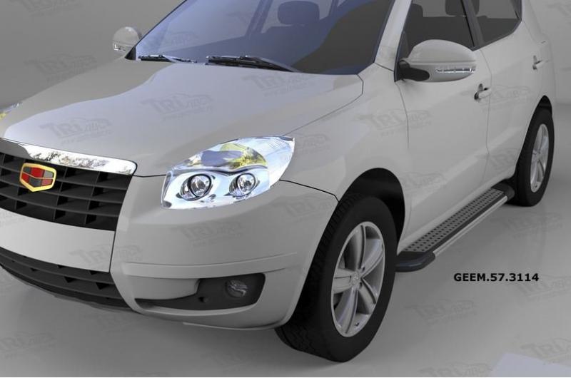 Пороги алюминиевые (Topaz) Geely (Джили) Emgrand X7 (2014-), GEEM573114