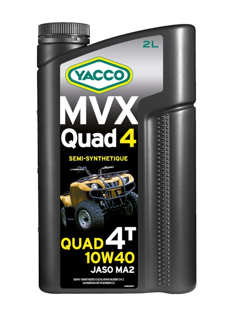 Масло для квадроциклов с 4-тактными двигателями YACCO MVX QUAD п/синт. 10W40, SL (2 л)