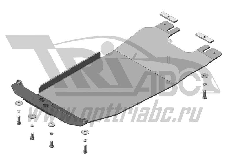 Защита алюминиевая 5 мм АКПП Subaru Forester с 2013 г., MOTODOR32232