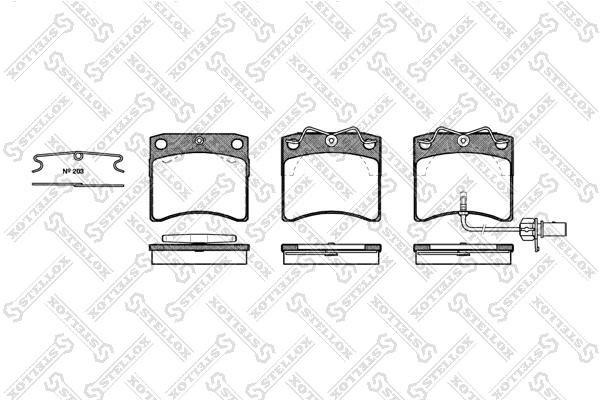 Колодки дисковые, STELLOX, 396011SX