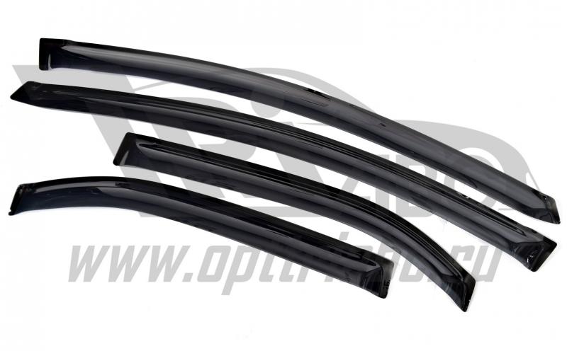 Дефлекторы боковых окон Honda (Хонда) Civic (Цивик) Хэтчбек 5D (2012-) (темный) (4 части), SHOCIV123