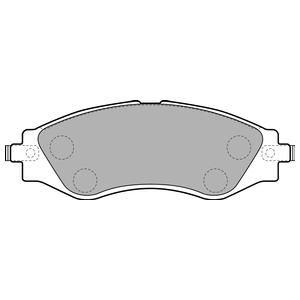 Колодки дисковые, DELPHI, LP1816