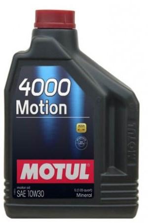 Моторное масло MOTUL 4000 MOTION, 10W-30, 2л, 100333