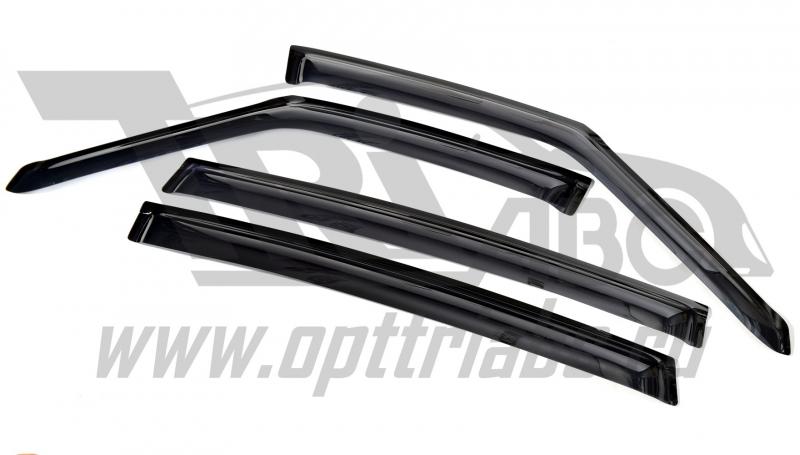 Дефлекторы боковых окон Ford S-Max (2010-) (темный) (4дв) только для авто с хром-пакетом, SFOSMA1032