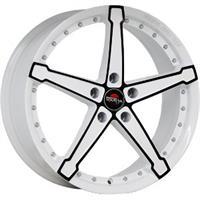 Колесный диск Yokatta MODEL-10 7x18/5x105 D58.6 ET38 белый +черный (W+B)