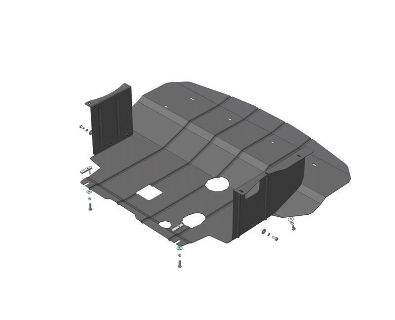 Защита картера двигателя, КПП Hyundai i40 (2012-) V=2,0 (сталь 2 мм), MOTODOR00938