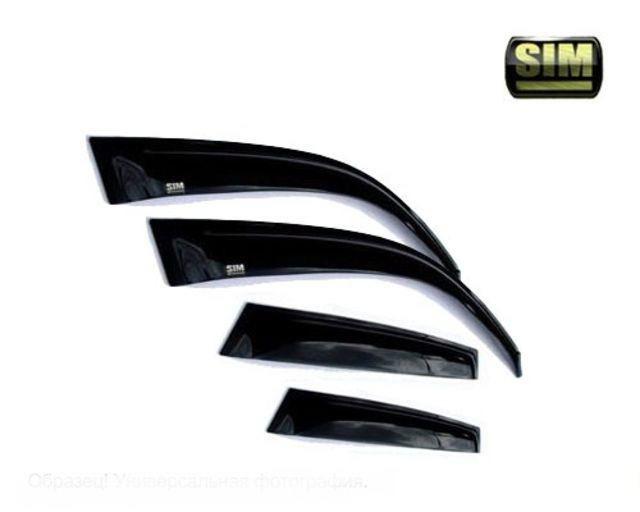 Дефлекторы боковых окон Volvo (Вольво) S60 (4дв) (2000-20009) (темный с серебристой полосой), SVOLVS