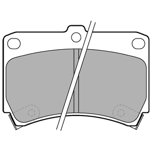 Колодки дисковые, DELPHI, LP743
