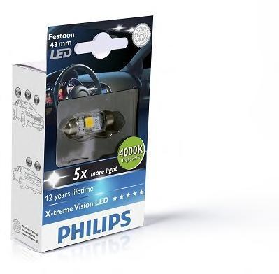 Лампа, 12 В, SV8,5, PHILIPS, 129454000KX1
