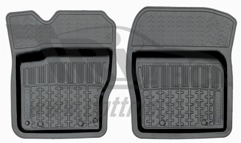 Коврики салона резиновые с бортиком для Ford Focus III(2011-) (2 передних), ADRPRO0182