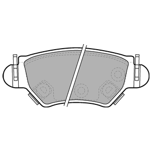 Колодки дисковые, DELPHI, LP1553
