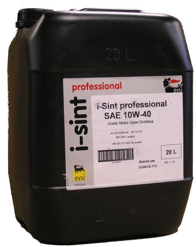 Моторное масло ENI I-Sint professional, 10W-40, 20л, 18423178002000