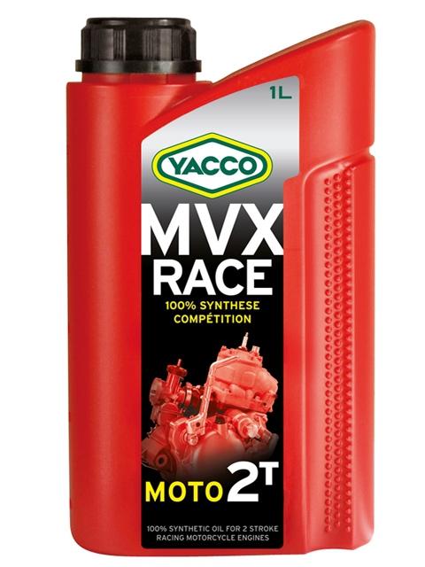 Масло для 2-тактных двигателей спортивных мотоциклов YACCO MVX RACE 2T синт. ,TC+ (1 л)