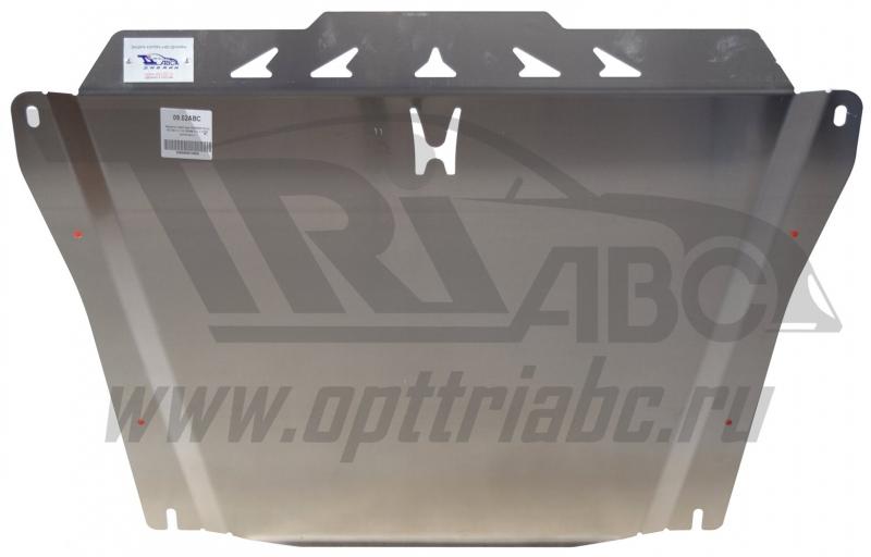 Защита картера двигателя и кпп Honda (Хонда) Civic (Цивик) 4D SD V-1,8 (2006-11) (Алюминий 4 мм), 09