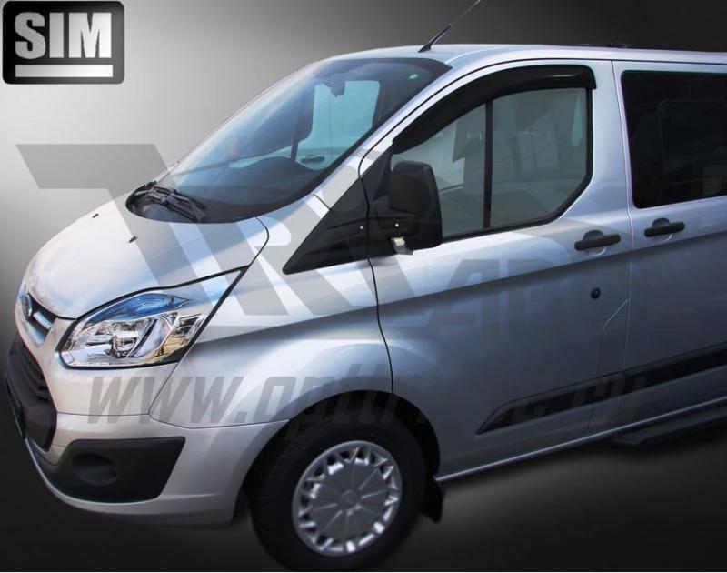 Дефлекторы боковых окон Ford Tourneo Custom (2013-) (2шт.) (темн.), SFOTCU1332