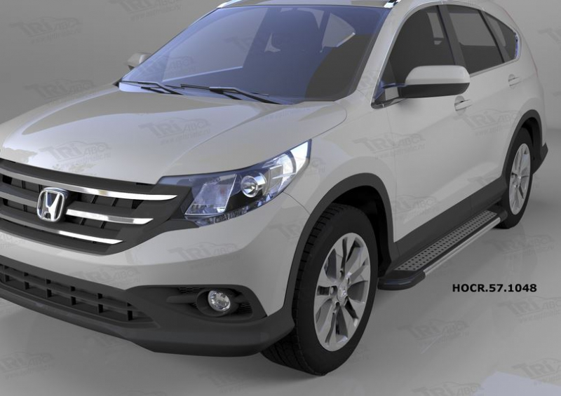 Пороги алюминиевые (Topaz) Honda (Хонда) CR-V (2012-2014 /2015-), HOCR571048