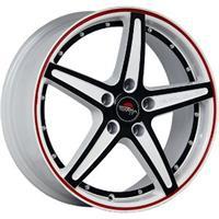 Колесный диск Yokatta MODEL-11 6x15/5x105 D60.1 ET39 белый +черный+красная полоса по ободу+черная по
