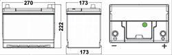 Аккумулятор TUDOR High-Tech 75 А/ч TA754 выс обр. 270x173x222 EN 630
