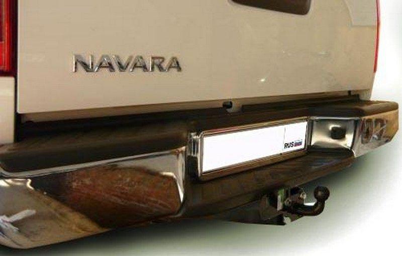 Фаркоп для Nissan Navara (бампер со ступенькой) (2005-) крюк тип F ( грузоподъемность 2000 кг) ., BO