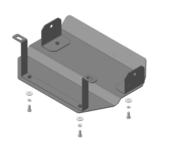 Защита картера РК Chevrolet Niva 2002- V=1,7i (сталь 3 мм), MOTODOR13007