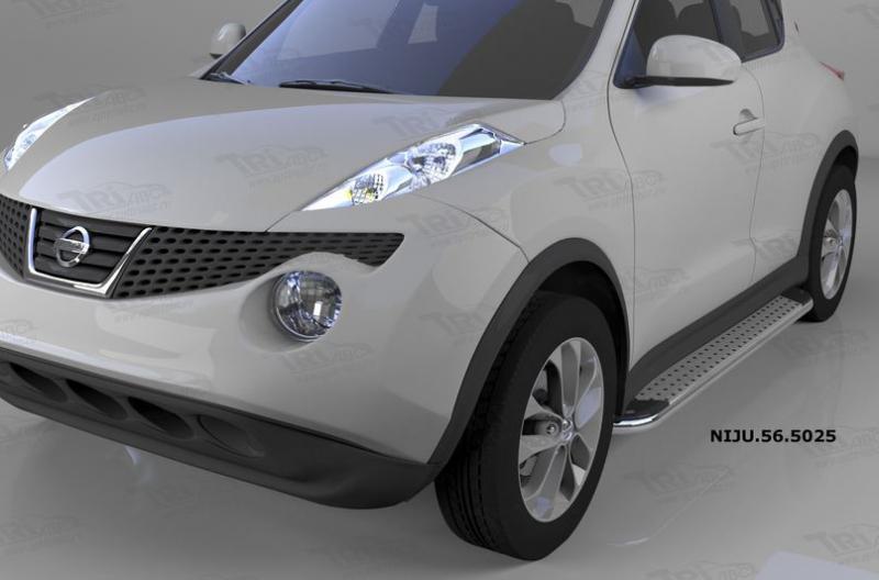 Пороги алюминиевые (Opal) Nissan Juke (2011-), NIJU565025