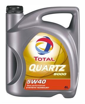Моторное масло TOTAL QUARTZ 9000, 5W-40, 4л, 166475