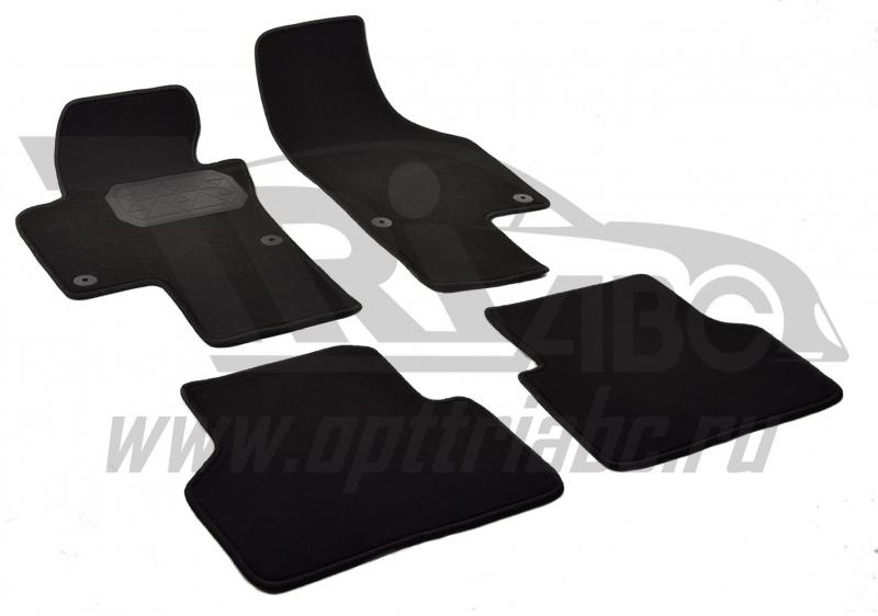 Коврики салона текстильный Volkswagen Tiguan (2011-)(Велюр, полиамид)(подпятник п/у)(черные), NPLVTE