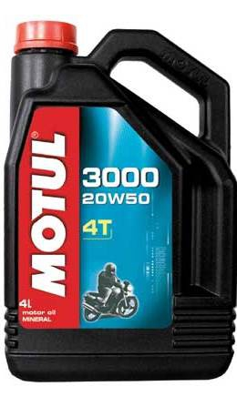 Моторное масло MOTUL 3000 4T, 20W-50, 4л, 104050