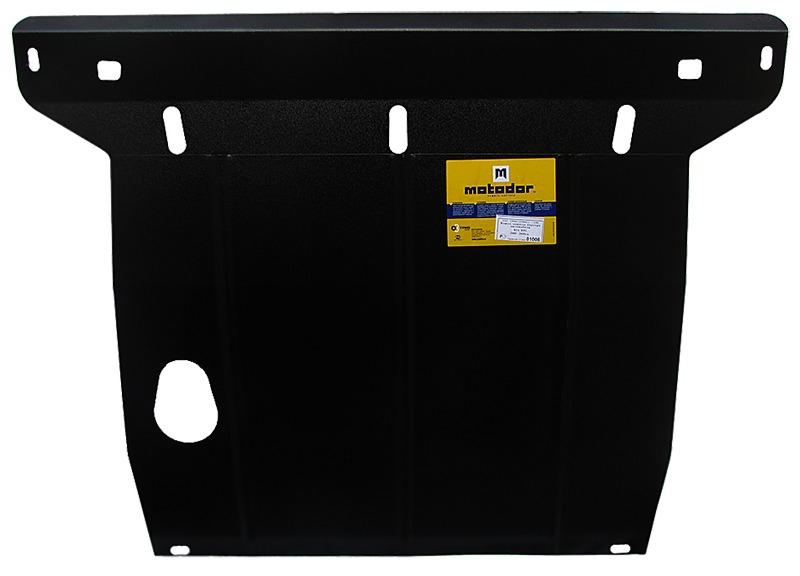 Защита картера двигателя, КПП Kia Rio I Хэтчбек 2000-2005 V= все (сталь 2 мм), MOTODOR01006