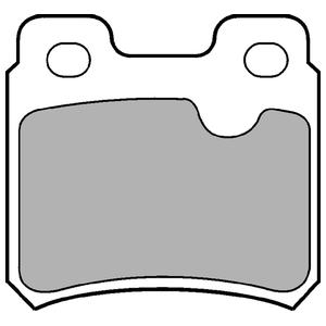 Колодки дисковые, DELPHI, LP586