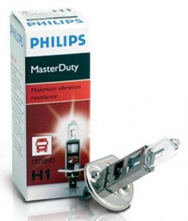 Лампа Philips MasterDuty, 24 В, 70 Вт, H1, P14.5s, 13258MDC1