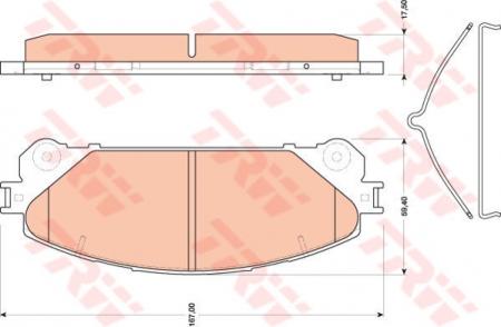 Колодки дисковые Передние, TRW, GDB3484