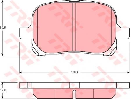 Колодки дисковые Передние, TRW, GDB3152