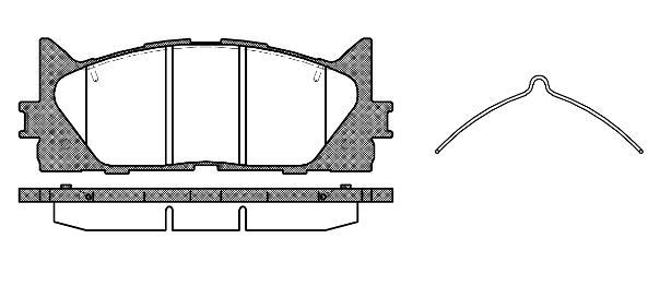 Колодки дисковые, REMSA, 123300