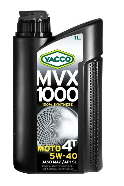Масло для мотоциклов с 4-тактным двигателем YACCO MVX 1000 4T синт. 5W40, SL (1 л)
