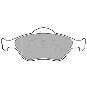 Колодки дисковые, DELPHI, LP1469