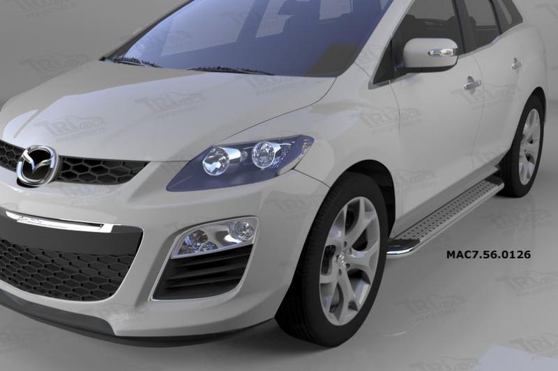Пороги алюминиевые (Opal) Mazda (Мазда) CX7 (2011-), MAC7560126