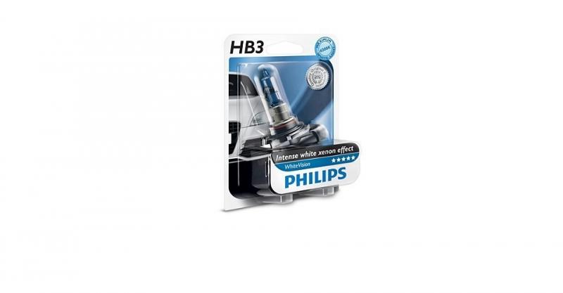 """Лампа """"WhiteVision"""", 12 В, 60 Вт, HB3, P20d, PHILIPS, 9005WHVB1"""