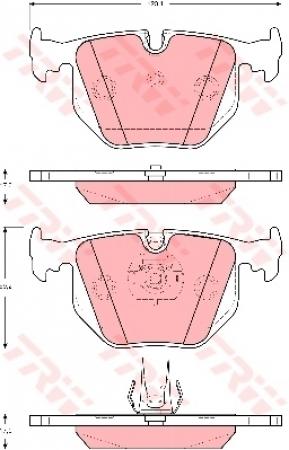 Колодки дисковые Задние, TRW, GDB1527